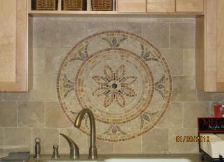 Floor value ceramic stone for Backsplash medallion